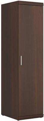 Imperial Dark Mahogany Melamine Cabinet - Tall Narrow 1 Door