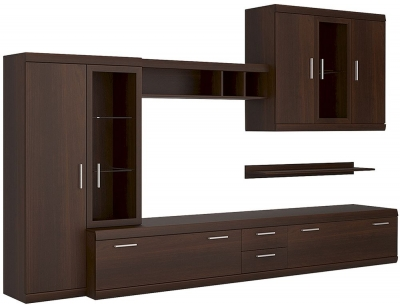 Imperial Dark Mahogany Melamine Complete Living Fitment