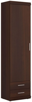 Imperial Tall Display Cabinet - Dark Mahogany Melamine