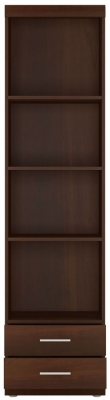Imperial Tall Narrow Cabinet - Dark Mahogany Melamine