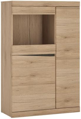 Kensington Oak Glazed Cabinet
