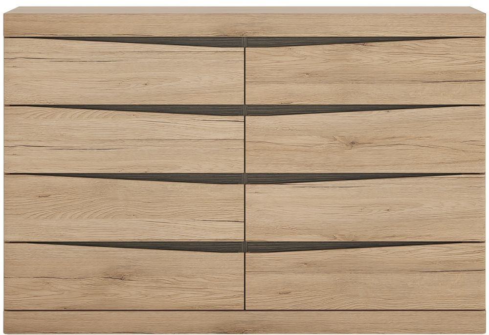 Kensington Oak 4+4 Drawer Wide Chest