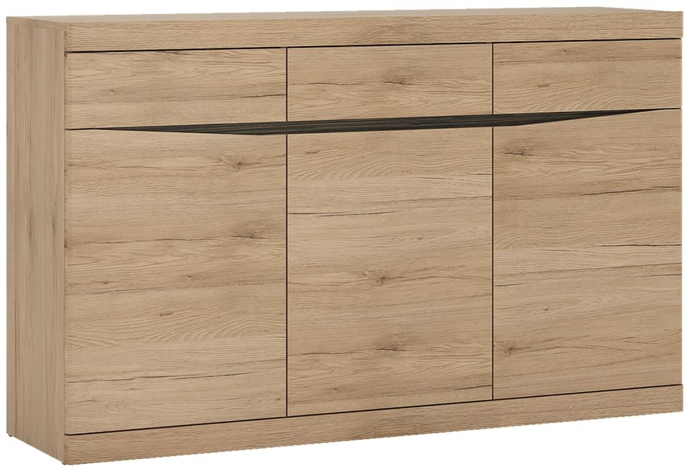 Kensington Oak Sideboard - 3 Door 3 Drawer