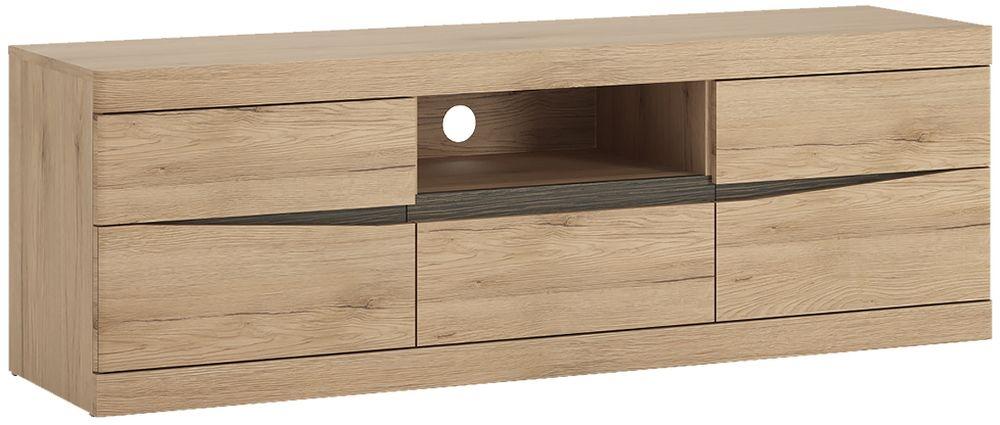 Kensington Oak TV Cabinet - Wide 2 Door 1 Drawer