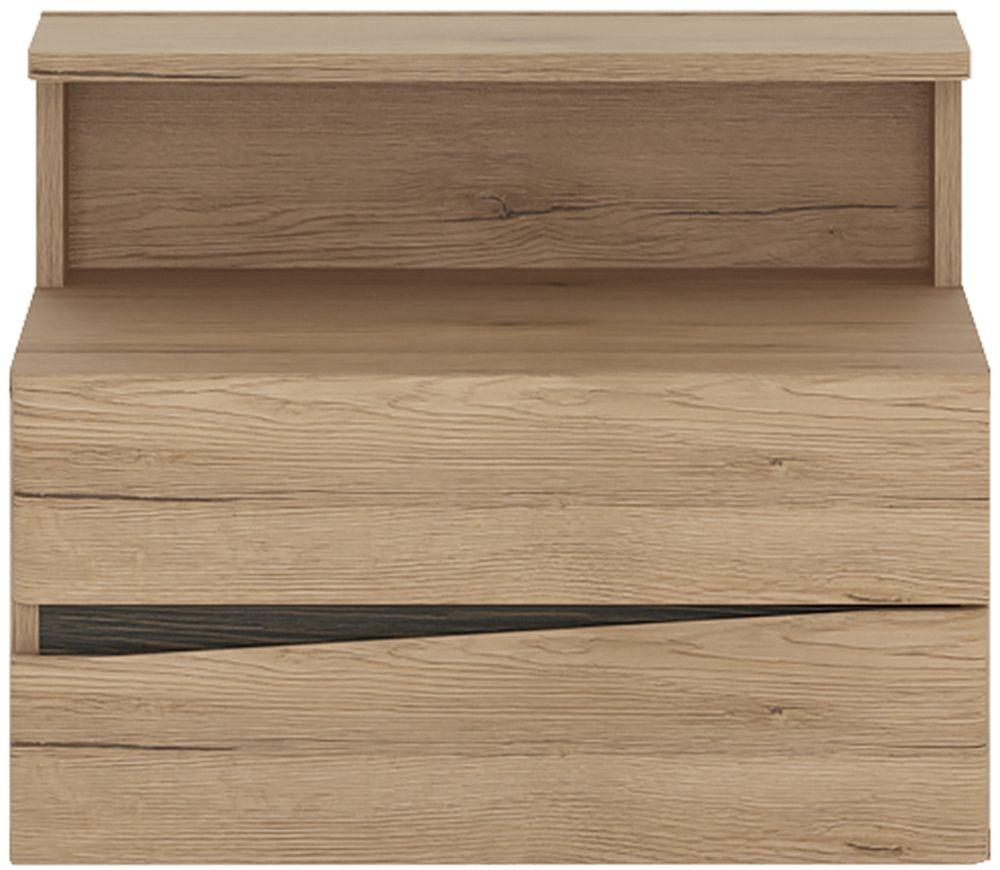 Kensington Oak Right Hand Facing Wall Bedside Cabinet