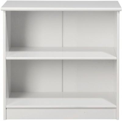Kids World White Low Bookcase