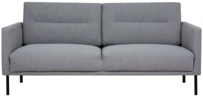 Larvik Grey Fabric 2.5 Seater Sofa with Black Metal Legs