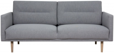 Larvik Grey Fabric 2.5 Seater Sofa with Oak Legs