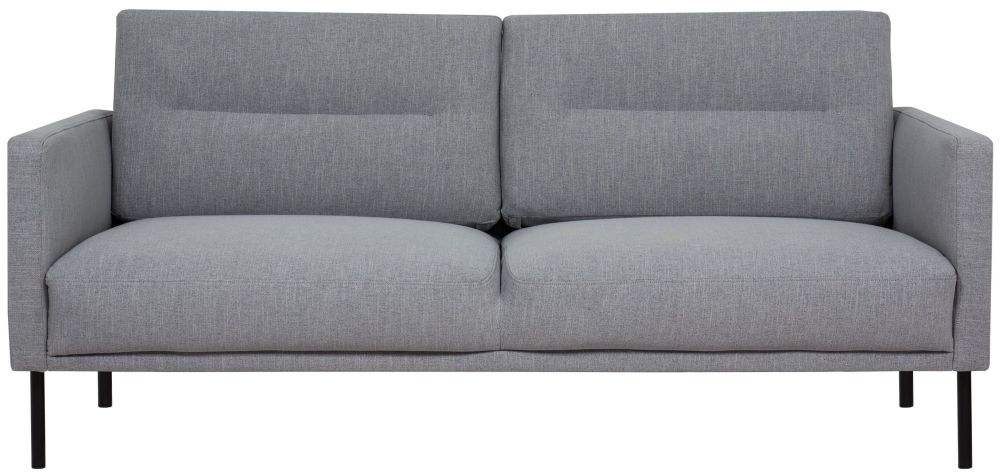 Larvik Grey Fabric 2.5 Seater Sofa with Black Metal Legs