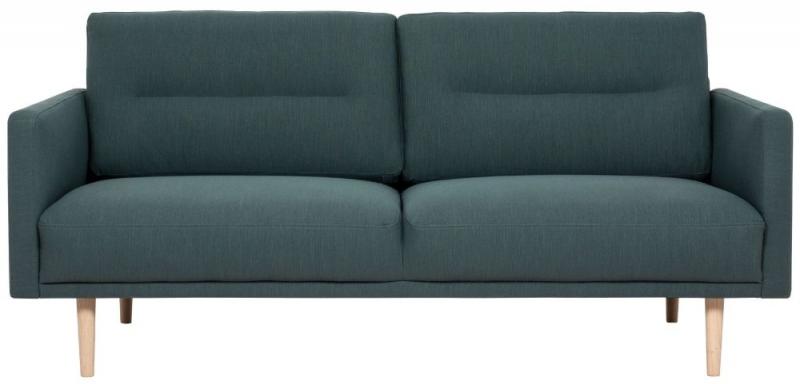 Larvik Dark Green Fabric 2.5 Seater Sofa with Oak Legs