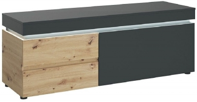 Luci Platinum and Oak TV Unit with LED Light