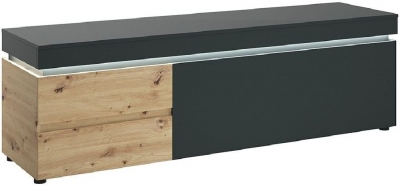 Luci Platinum and Oak Wide TV Unit with LED Light