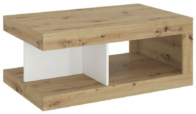Luci White and Oak Coffee Table
