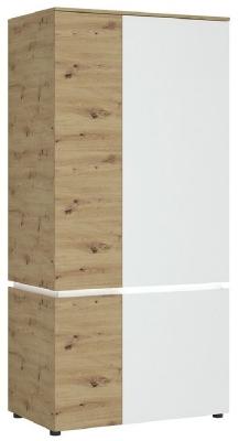 Luci White and Oak Wardrobe with LED Light