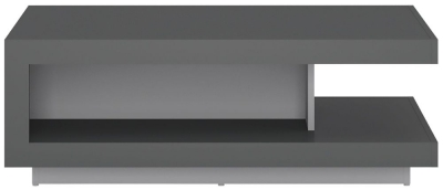 Lyon Designer Coffee Table - Platinum and Light Grey Gloss