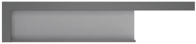 Lyon Large Wide Wall Shelf - Platinum and Light Grey Gloss