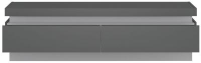 Lyon Wide TV Cabinet - Platinum and Light Grey Gloss