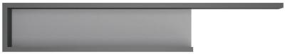 Lyon Wide Wall Shelf - Platinum and Light Grey Gloss
