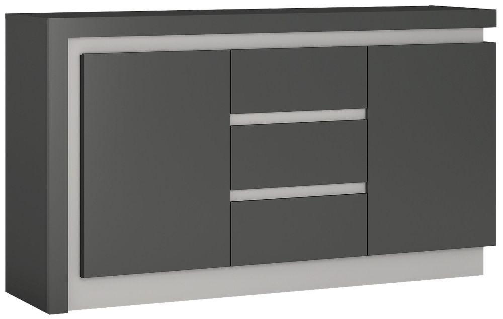 Lyon Sideboard - Platinum and Light Grey Gloss