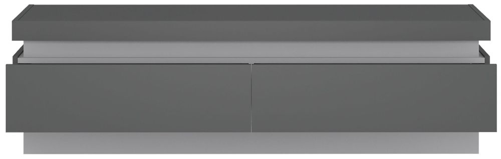 Lyon Wide TV Cabinet - Platinum and Light Grey Gloss