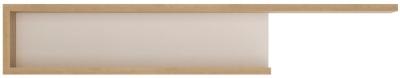 Lyon Large Wide Wall Shelf - Riviera Oak and High Gloss White
