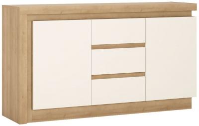 Lyon Sideboard - Riviera Oak and High Gloss White