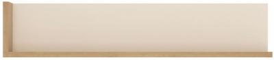 Lyon Wall Shelf - Riviera Oak and High Gloss White