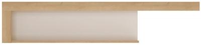 Lyon Wide Wall Shelf - Riviera Oak and High Gloss White