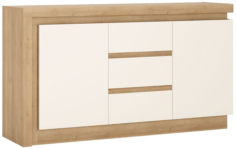 Lyon Sideboard - Riviera Oak and High Gloss White