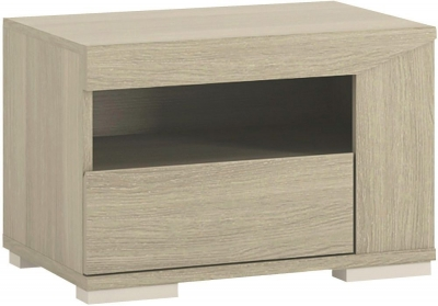 Madras Champagne Melamine Bedside Cabinet - Right Hand