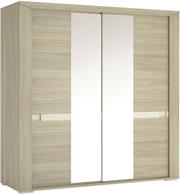Madras Champagne Melamine Sliding Wardrobe - 200cm with Mirror Door