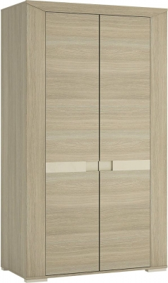 Madras Champagne Melamine Wardrobe - Tall 2 Door