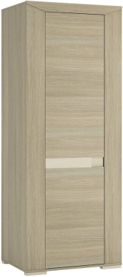 Madras Champagne Melamine Wardrobe - Tall Narrow 1 Door
