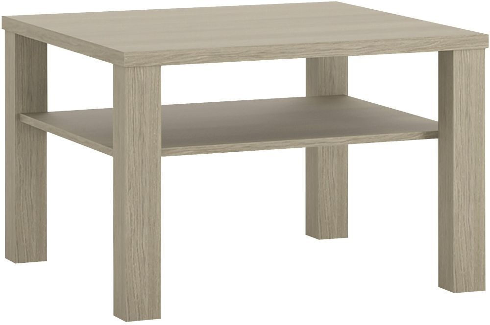 Madras Champagne Melamine Coffee Table with shelf - Small