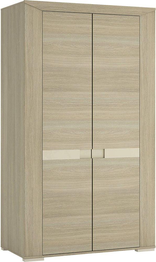 Buy madras champagne melamine wardrobe tall 2 door online cfs uk - Revamper armoire melamine ...