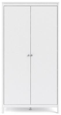Madrid White 2 Door Wardrobe