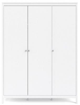 Madrid White 3 Door Wardrobe