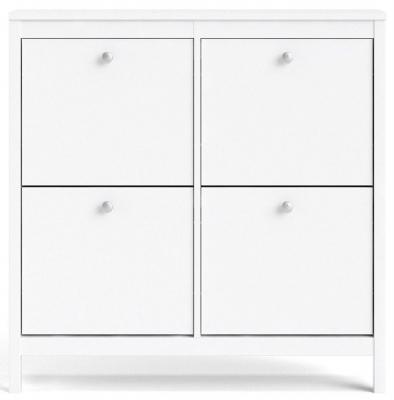Madrid White Shoe Cabinet