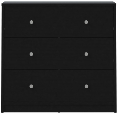May Black 3 Drawer Chest
