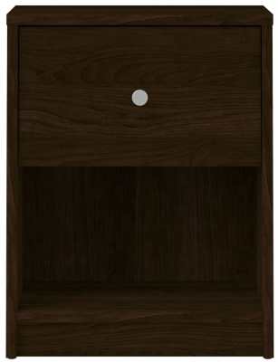 May Dark Walnut Bedside Cabinet