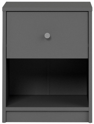 May Grey Bedside Cabinet