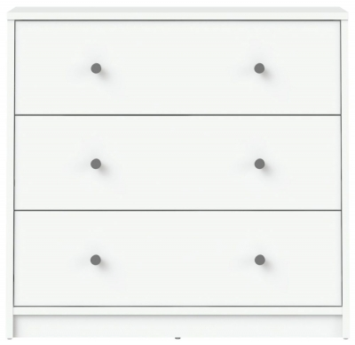 May White 3 Drawer Chest