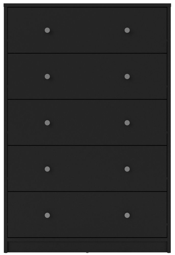 May Black 5 Drawer Chest