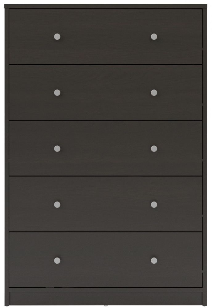 May Dark Walnut 5 Drawer Chest