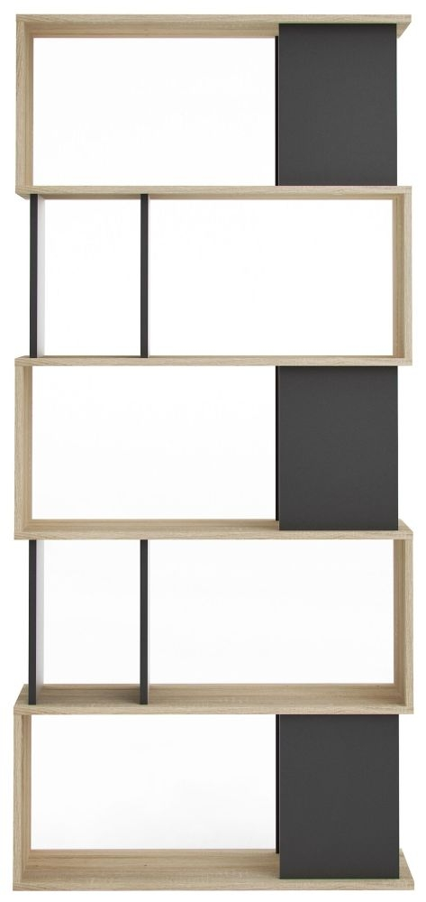 Maze Bookcase - Oak and Black