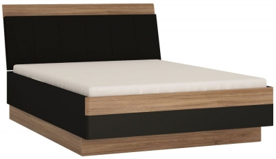 Monaco Bed - Oak and Matt Black