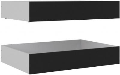 Naia Black Matt Underbed Storage Drawers (Set of 2)