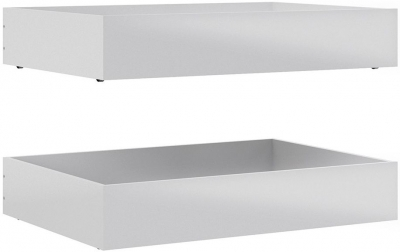 Naia White High Gloss Underbed Storage Drawers (Set of 2)
