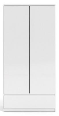 Naia White High Gloss 2 Door Double Wardrobe