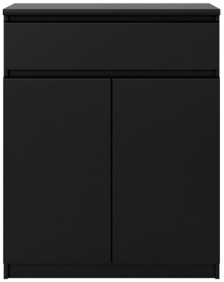 Naia Black Matt 2 Door 1 Drawer Sideboard